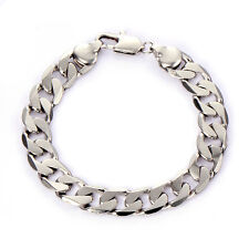 Mens Womens Vintage stainless steel chain cuban link bracelet vintage jewelry