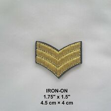 Gold Army Rank Marine Embroidered Badge Iron-on Police Military Patch Applique