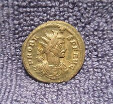 Scarce Ancient Roman Silvered Coin - Probus - 2 Captives & Trophy Victoria Germ
