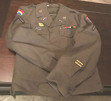 US Military WWII NAMED IKE JACKET 42ND INFANTRY OCCUPIED AUSTRIA