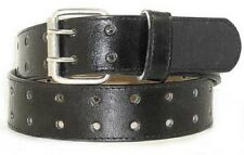 Two-holed Bonded Leather Belt