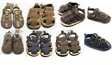 NEW Baby Infant Boys Carters Sandals Crib Shoes 2 3 4 Newborn NWT Green Blue