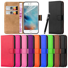 Apple iPhone Flip Wallet Leather Book Card Slots Stand View Case Cover Pouch