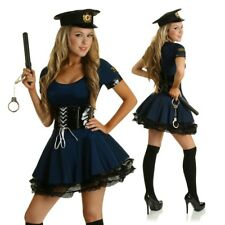 Adult Sexy Cop Costume Role Play Police Officer Uniform Fancy Dress Party Outfit