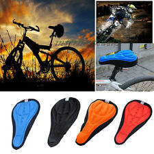 Cycling Bicycle Bike Soft Cushion 3D Gel Silicone Seat Pad Saddle Cover Case OO