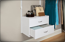 Rubbermaid Home Free Wood 2 Drawer Dresser Unit Expanding Storage Potential Whit