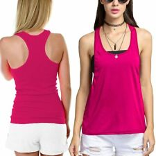 RacerBack Gym Muscle Workout Womens Vest Top Ladies Sports Wear Tank top Lot