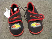 BNWT BOYS SLIPPERS SIZE 7 8 9 CARS VROOM RUBBER SOLES VELCROSE CLOSURE