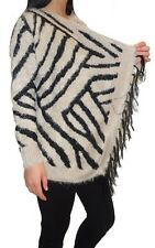 Ladies Women Waterfall Fluffy Fury Long Sleeves Shrug Cardigan