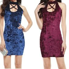 Hot Hip Package Slim Party Dress Sexy Bandage Cross Velvet Fashion New