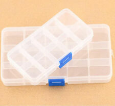 10/15 COMPARTMENT ORGANISER STORAGE PLASTIC BOX LOOM BANDS CRAFT NAIL ART BEADS