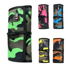Camouflage Roll Up Folding Travel Organizer Bag Case for Electronics Accessories