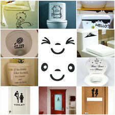 Toilet Seat Wall Sticker Decals Wall Removable Washroom Decor PVC Vinyl paper