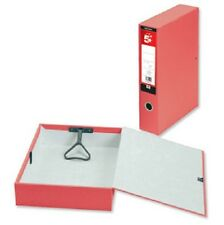 5 Red Box File Fits A4 & Foolscap Folders Paper Filing documents 332845 SP