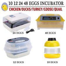 Automatic Digital Chicken Egg Incubator 12/24/48 Eggs Poultry Hatcher Free Post