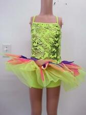 Dance Costume 6X & Medium Child NEON Tutu Unitard Jazz Ballet DUET Competition