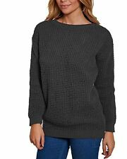 New Ladies Women Long Sleeve Over sized Chunky Knitted Baggy Jumper Sweater Top
