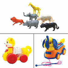 Lovely Toys Pull Along Playing Elephant Xylophone Plastic Kids Multicolor Toy