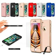 For Apple iPhone 6s Plus (5.5 inch) 360 Hard Case Full Cover Dual Layer w/ GLASS
