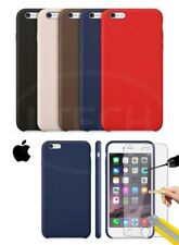 Apple iPhone 6S Plus - Leather Hard Back Case & Tempered Glass Screen Protector