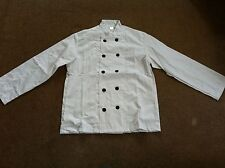 White 215gsm Chefs Jacket Black Buttons