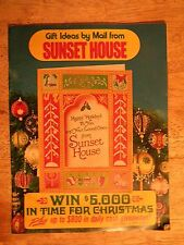 1973 SUNSET HOUSE CATALOG CHRISTMAS GIFTS HOME SUPPLIES ORNAMENTS KITCHEN ITEMS