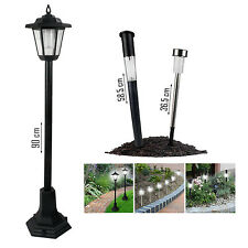 SOLAR POWERED LED LIGHTS GARDEN OUTDOOR SHED PATIO DRIVEWAY PATH GRASS LANDSCAPE