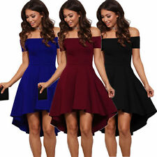 New Womens Summer Casual Off Shoulder Party Evening Cocktail Short Mini Dress