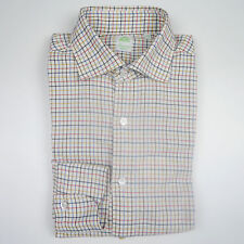 Finamore Flannel Shirt Beige/ Blue/ Brown/ Red Checkered (Previously