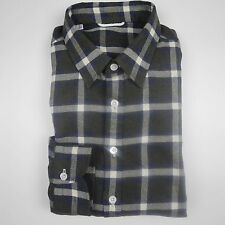 G. Inglese flannel shirt Men's Brown/Blue/Red-white check (previously