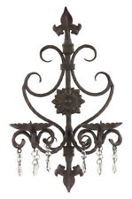 Victorian Wall Sconce Candle Holder Scroll Metal Iron Decor Imax 7790