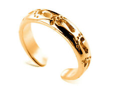 9ct Solid Yellow GOLD Footprints Toe Ring