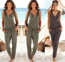 NEW Womens summer V neck Evening Party Playsuit Ladies Long Jumpsuit Size 6 - 14