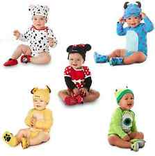 2pc New Baby Boys Girls Animal Costume triangle Bodysuit Outfit Romper + Hat set