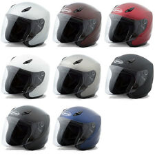 Gmax Adult GM17 Solid Open Face 3/4 Motorcycle Street Helmet - Pick Size & Color