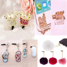 Crystal Slipper 3.5mm Anti Dust Earphone Jack Plug Stopper Cap for Mobile Phone