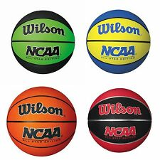 Wilson NCAA MINI BASKETBALL Size 3- Orange, Red/Black, Blue/Yellow Or Black/Lime