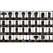 Professional Makeup Brush Set Kit 32 Pcs Eyebrow Shadow Makeup Brushes & Pouch