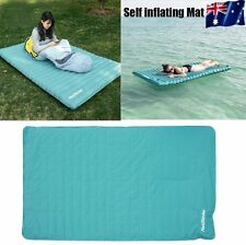 HOT Double Self inflating Mattress Mat Sleeping Pad Air Bed Camping Hiking BO
