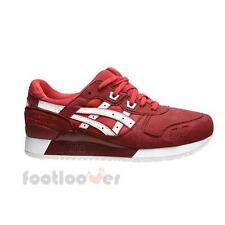 Shoes Asics Gel Lyte III H7K4Y 2301 Man Running Sneakers Red White Fashion Synth