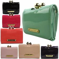 LYDC Anna Smith Bobble Matinee Clasp Women Purse Small Wallet Ladies Girl Patent
