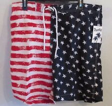 NWT TRUNKS SURF & SWIM CO. PATRIOTIC XXL RED/WHITE & BLUE SWIM TRUNKS