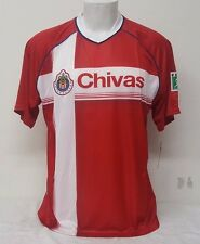 Official Chivas Del Guadalajara Team Colors Men's Soccer Jersey By Rhinox