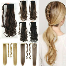 100% Natural Long Ponytail Clip in Hair Extension Pony tail Extensions Hairpiece