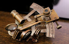"""4"""" Nautical Maritime Brass Sextant Collectible Marine Vintage Navigation Sextant"""