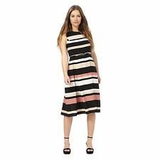 The Collection Petite Womens Brown Striped Print Petite Dress From Debenhams