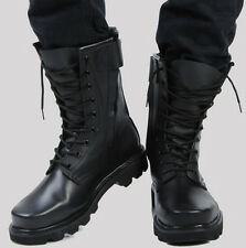 Mens Lace Up Ankle Boot Motorcycle Military Winter Ankle Boot PU leather Shoes
