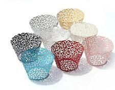 Colorful Paper Cake Cupcake Liner Case Wrapper Hollow Muffin Baking Cup Party