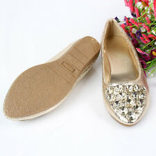 Shiny Beads Women Ballet Flats Ballerina Round Toe Casual Slip On Shoes
