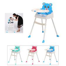 SALE 4 IN1 BABY FOLDABLE HIGHCHAIR BABY FEEDING HEIGHT ADJUSTABLE HIGH CHAIR UK!